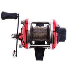 Wholesale Beach Sheets - Spinning Reels Strength Mini Right Hand Drum Casting Fishing reel with 0.28mm Line 50m Sea Beach Rock River Boat Ice Carp Fishing TB