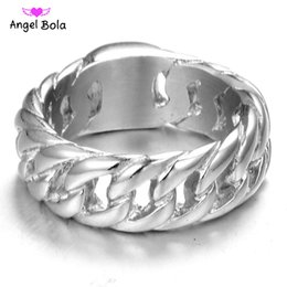 Wholesale People Charms - Hot Sale stainless steel Men buddha charms ring tide people index finger weaving personality European and American fashion ring