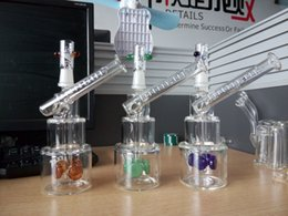 Wholesale Classic Tires - Colorful Hitman Glass Bongs Classic Brilliance Cake Smoking Pipe oil Rigs Water Pipes with tire perc 14 mm male joint