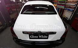 Wholesale Car Gloss - White glossy vinyl film high gloss film with 3 layers car wrapping vinyl sticker foile with air release for car wraps