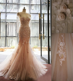 Wholesale Red Mermaid Dress Stores - Real Picture Blush Pink Mermaid Wedding Dress Sweetheart Applique Country Western Wedding Dresses Vintage Bridal Gown China Online Store