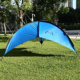 Wholesale Foldable Portable Canopy - Wholesale- Bluefield 6-8 person Quick setup Beach Canopy Tent UV-protective shade waterproof Foldable portable tent for Camping fishing ect