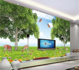 Wholesale animal house wallpaper - 3d room wallpaper custom photo mural The world of forest animals decor painting 3d wall murals wall paper for walls 3 d living room