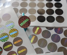 Wholesale Laser Time - 1000 pieces ONE SET ! 16mm diameter silver color round warranty laser hologram sticker label seal ,one time use only !