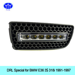 "Wholesale Bmw E36 325i - ""2pcs LED Daytime Running Light Super Bright DRL Lamps Kit for BMW E36 318i 320i 323i 325i 328i 1991~1997 Daylight Fog Bulbs Waterproof"