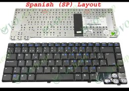 Wholesale Hp Keyboard Spanish Laptop - New Notebook Laptop keyboard for HP Pavilion dv1000 Black Spanish SP Version - MP-03296E0-9201