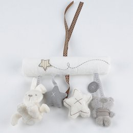 Wholesale Baby Toy Mobile - New arrival mamas&papas cot hanging toy baby rattle toy soft plush rabbit musical mobile products baby gift