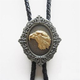Wholesale Clearance Pendants - fashion bolo ties BOLO tie loop necktie animal necklace pendant eagle golden match jeans discount clearance