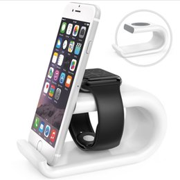 Wholesale Iphone Holder Acrylic - Smartphone Stand IPhone Holder Charger Bracket New Acrylic Apple Charge Support Smooth Wear-resisting Watch Charging Base Free Shipping