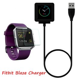 Wholesale Battery Cable Wire - 1m 3ft Charging Cable Battery Charger Power Adapter Dock Cradle Cord Wire For Fitbit Blaze Smart Fitness Watch Bracelet Replacement Newest