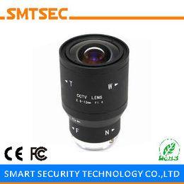 """auto lente íris câmera Desconto Venda por atacado- SMTSEC SL-2812M Varifocal F1.4 2.8-12mm Íris Manual CCTV Lens 90-28 Graus 1/3 """"CS Mount CCTV Lente Da Câmera De Vídeo"""