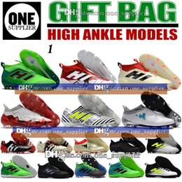 Wholesale 16 Tf - New Arrived High Top Leather ACE 17 Purecontrol FG Football Boots Mens Indoor X 16 Purechaos Soccer Shoes TF IC Messi Nemeziz Predator Mania