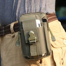 Wholesale Waterproof Cross Body Outdoor Bag - Waterproof Belt Bag Men Nylon Mobile Phone Wallet Travel Sport Waist Pack Portable Outdoor Military Tactical Belt Waist Bag