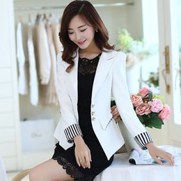 Wholesale Long Sleeved Blazer - womens floral blazer The new long-sleeved suit female Spring and Autumn Korean Slim leisure wild short coat 100% authentic quality assuranc