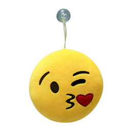 Wholesale Yarn Dolls - Wholesale- Pillow Case New Qualified cute 6 Inch Emoji Emoticon Soft Stuffed Plush Round Cushion Toy Doll dec12