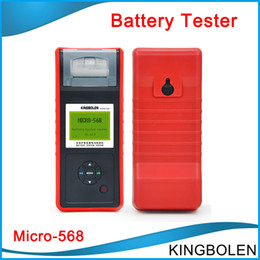 Wholesale Tester Printer - MICRO-568 Car Battery Tester tool For SOH SOC CCA IR for 6v 12v & 24v system Multi-language micro 468 with Printer DHL free shipping