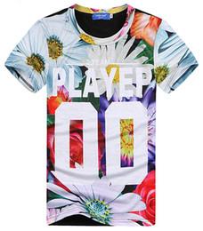 Wholesale National Wind - tshirt Hip hop short sleeve T-shirt 2016 New flowers cashew national wind 90 roses print harajuku O-Neck men t shirt tee tops