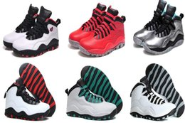 Wholesale Mesh Fusion - Wholesale Air Retro 10 GS Fusion Retro 10s Basketball Shoes outlet Best Quality us Men Women size 5.5-8.5 Free shipping