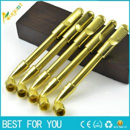 Wholesale Metal Stems - Classic Brass Smoking Pipe Stems Stretchable Smoking Pipe Cigarette Filter Cleaning Tools Healthy Smoking Accessories YD055