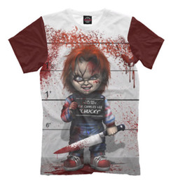 Wholesale 3d T Shirt Women - New Fashion Women men's 3D Print Movie Chucky Doll Child's Play Horror Casual Short Sleeves T-shirt