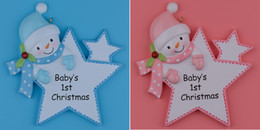 Wholesale Christmas Ornaments Personalize - Maxora Personalized Baby First Christmas Ornaments Blue Boy Pink Girl Star As Craft Souvenir For Natal Baby Gifts