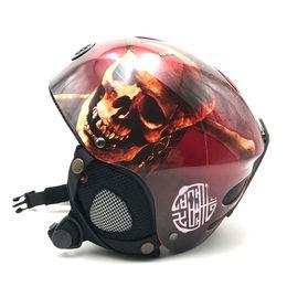 Wholesale Hard Shell Cooler - Wholesale- Cool Skull Design Kids Skiing Snowboard Helmet For Boys Girls High Quality Hard Shell Snowboarding Helmets Sale CE
