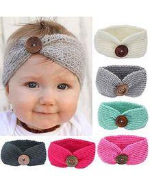 Wholesale Turban Band Wholesale - Bebe girls headband Head Wrap kids newborn toddler hair band wool knitted winter autumn turban infant child headwear Hair accessories SEN037
