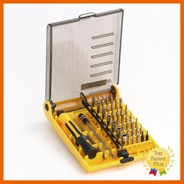 Wholesale Iphone Screen Replacement Tool Set - Home 45in1 Multi-Bit Repair Tools Kit Screw Driver Set Torx ScrewDrivers For Samsung Iphone PC Screen Replacement