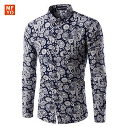 Wholesale Mens Dress Shirts Polka Dot - Wholesale-New Mens Casual Shirts Fashion Long Sleeve Brand Printed Male Formal Business Polka Dot Floral Men Dress Shirt Chemise Homme