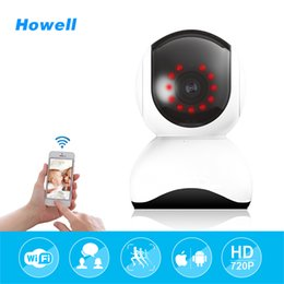 Wholesale Local Wifi - Howell Home Security Camera HD 720P CCTV Baby Monitor Wireless Fake Camera Mini wifi Surveillance 15m Night Vision Infrared Local Alarm Cam