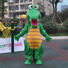 Wholesale Xxl Size Dresses Online - Online Buy Sharp tongue Dinosaur capacity doll Mascot Costume For adults fancy dress For Halloween dragon Mascots Birthday
