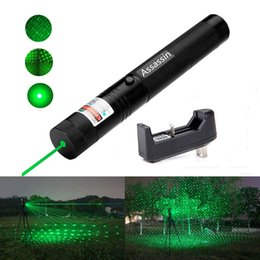Wholesale Green Laser Burning Caps - 10Mile Burning Powerful Green Laser Pen Pointer 5mw 532nm Military 2in1 Green Laser Star Cap+18650 Battery+Charger