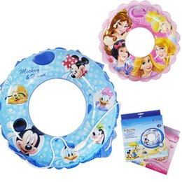 Wholesale Life Baby Infant - Wholesale- Thicken Infant Inflatable Swim Ring Child Waist Circle Life Ring Baby Cartoon Pool Exercise Accessory with a Baby Safety Rope