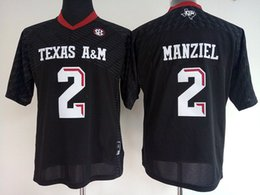 johnny manziel jerseys Promotion 2017 Cheap Wholesale Womens 2 Johnny Manziel Rouge blanc noir Womens College Texas AM Aggies Football Maillots