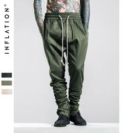 Wholesale Cut Loose Pants - Men Military Side Zipped Pants Loose Camo Joggers Skinny Camouflage Pants Hip Hop Style Mens Camouflage Pants