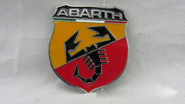 Wholesale Emblem Abarth - 20PCS LOT Brand New Refitting Metal Adhesive 3D Badge Emblem Sticker Decal for Fiat Abarth 124 125 125 500