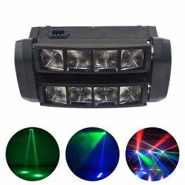 Affichage des étapes en Ligne-AUCD 30 W 8 Têtes LED RBGW Shake Lampe Éclairage de Scène Faisceau Affichage Numérique DMX Afficher Danse Disco Maison Party DJ Afficher Lumière XMT-117