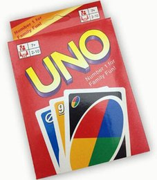 Wholesale Kids Play Toys Wholesalers - Entertainment Card Games UNO cards Fun Poker Playing Cards Family Funny Board Games Standard DHL Free Shipping 50sets lot