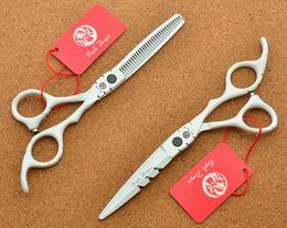 Wholesale Barber Inch Shears - 511# 6 Inch Brand Purple Dragon Hairdressing Scissors JP 440C Home &Salon Barbers Cutting Scissors Thinning Shears Hair Scissors