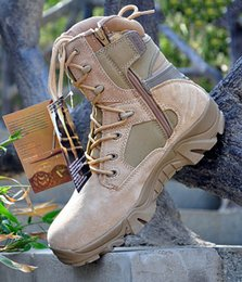 Wholesale Delta Military Boots - Delta Men Military Tactical Boots Desert Combat Outdoor Army Hiking Travel Botas Shoes Leather Autumn Ankle Boots winter boots