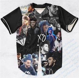 Wholesale Best Custom Made Shirts - Real USA Size Custom made The best of Abel - Xotwod -The Weeknd Fashion 3D Sublimaiton Print Unisex Shirt Plus Size 3XL 4XL 5XL 6XL