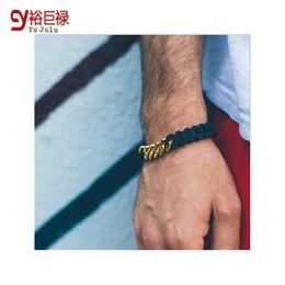Wholesale Hip Hop Wristbands - The Rubz Wristband Lust Ltd Coarse Twisted Bracelet Hand Energy Silicone Couple Love Bracelet Hip Hop Jewelry Bangle Gift BR0601