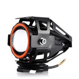 Wholesale Range Lead - Free Shipping 125W 12V 3000LM U7 LED Fog Lamp Transform Eagle Eye High intensity Large Lighting Range Motorcycle Headlight