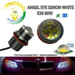 Wholesale Projector Kits - With projector E39 80W per Bulb 160W KIT CREE Led Angel eyes for BMW 5 6 7 Series