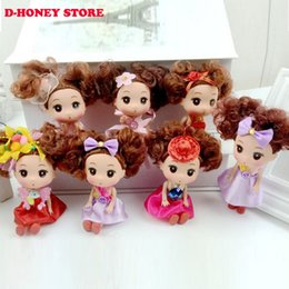 Wholesale Mini Ddung Dolls - 12cm Lovely cute Face Ddung Doll for girls brinquedos for Girls toys Gift Cake decoration dolls Ddung doll key buckle chain