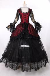 Wholesale Gothic Victorian Lolita Dresses - 2016 Brand New 18th Century Victorian Lolita schwarz Marie Antoinette Gothic Dress
