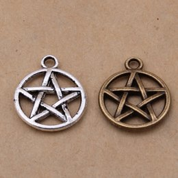 Wholesale Pentagram Charms - NEW Free shipping wholesale 150pcs Antique Silver tone Supernatural Pentagram charm Pendants 20x17mm jewelry making findings