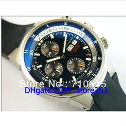 Wholesale Eta Diver - high quality men's watch 7750 ETA Cousteau Divers chronograph movement rubber strap watches men free shipping