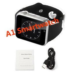 Wholesale Dhl Freeshiping - DHL freeshiping A1 Smart Watch SIM TF bluetooth for Apple Samsung android phone watch relogio wearable devices pk gt08 dz09 v8 watches