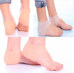 Wholesale Silicon Heel - Gel Heel Sleeve Moisturizing Silicone Socks Heel Ankle Pain Relief Cushion Sleeve Silicon Ankle Cover Feet Care Free DHL E880L